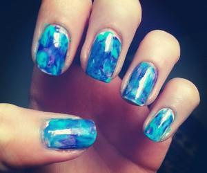 blue, nails, and water nail art image