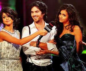 ian somerhalder, Nina Dobrev, and selena gomez image