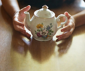 floral, photography, and tea image