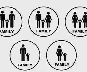 family, gay, and lesbian image
