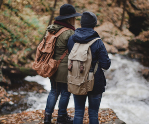 adventure, autumn, and couple image