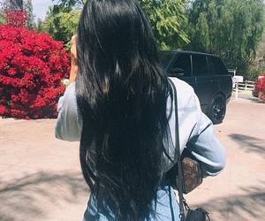 kylie jenner, hair, and black image