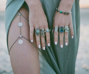 accessories, boho, and rings image