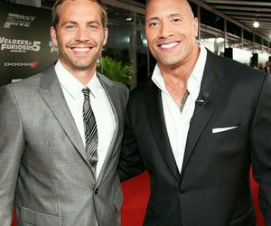 Dwayne Johnson, paul walker, and the fast and the furious image