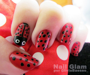 girl, nail art, and nails image