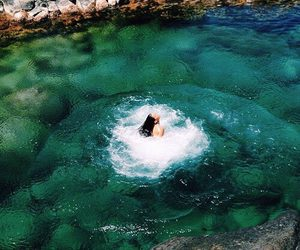 summer, girl, and water image