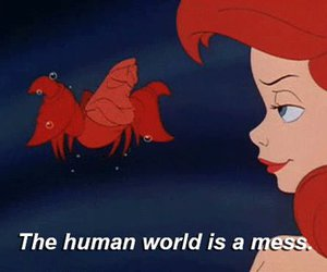 disney, ariel, and mess image