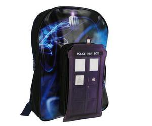 backpack, tardis, and doctor who image