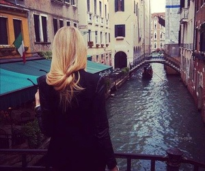 girl, venice, and blonde image