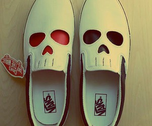 vans, skull, and shoes image