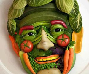 food, face, and vegetables image