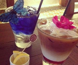 drink, butterfly, and alcohol image