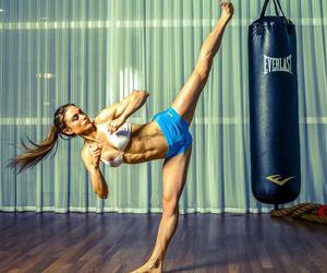 abs, fitspo, and boxing image