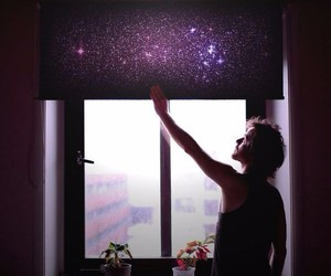 window, stars, and space image