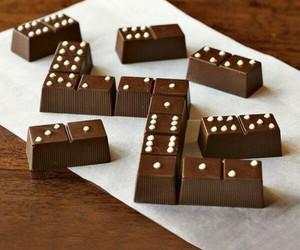 chocolate, domino, and food image