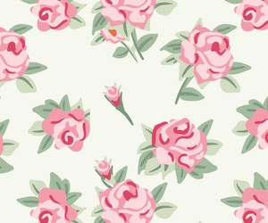 pattern, rose, and wallpaper image