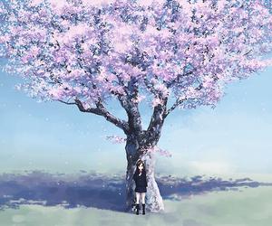 anime, anime girl, and tree image