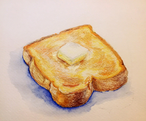 art, bread, and butter image