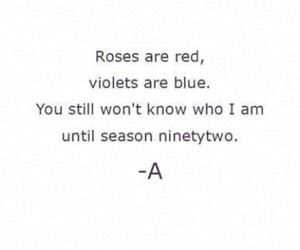 roses, pll, and violets image