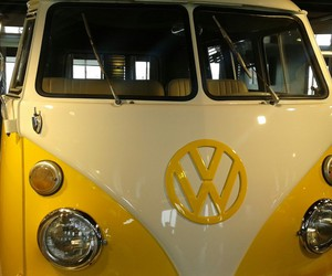 car, yellow, and wolkswagen image