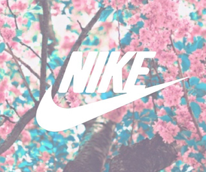 nike, flowers, and tree image