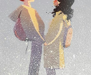 art, couple, and cute image