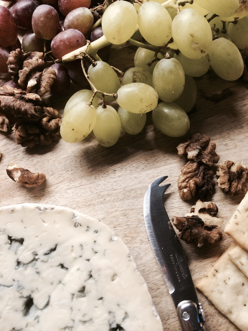 cheese, platter, and grapes image