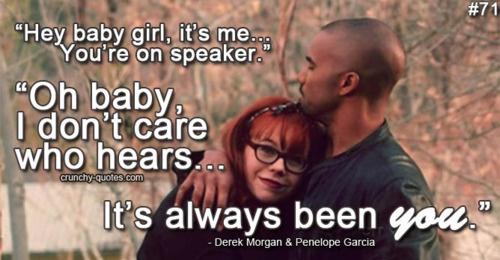 On Derek Morgan dating Penelope