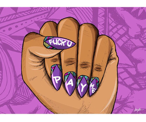 art, nails, and pay me image