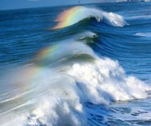 rainbow and sea image