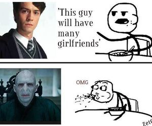 harry potter, lol, and voldemort image