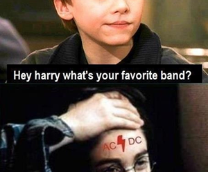 harry potter, ACDC, and ac dc image