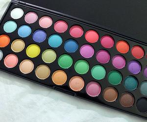 make up, colors, and makeup image