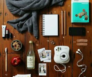 essentials, polaroid, and travel image