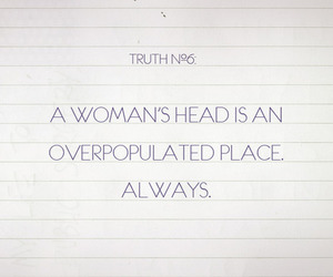 head, truth, and woman image