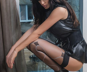 heels, stockings, and tacones image