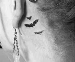 bats, Tattoos, and behind ear tattoo image
