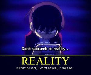 anime, meme, and reality image