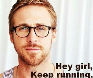 motivation, ryan gosling, and running image