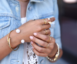 gold, nails, and rings image