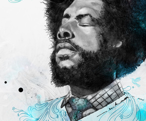 questlove, illustration, and the roots image