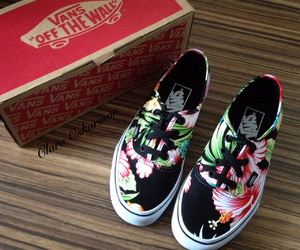 flowers, vans, and shoes image