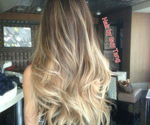 hair, long hair, and ombre image