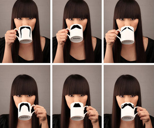 mustache, moustache, and mug image