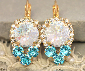 bridal, chic, and earrings image
