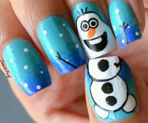 nails, frozen, and olaf image