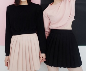 fashion, pink, and black image