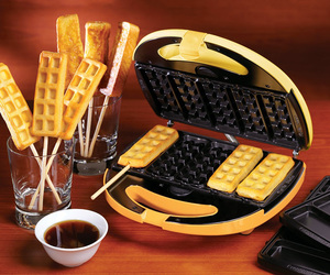 waffles, breakfast, and delicious image