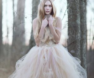 dress, gown, and nature image