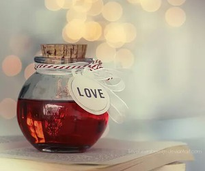 love, red, and book image